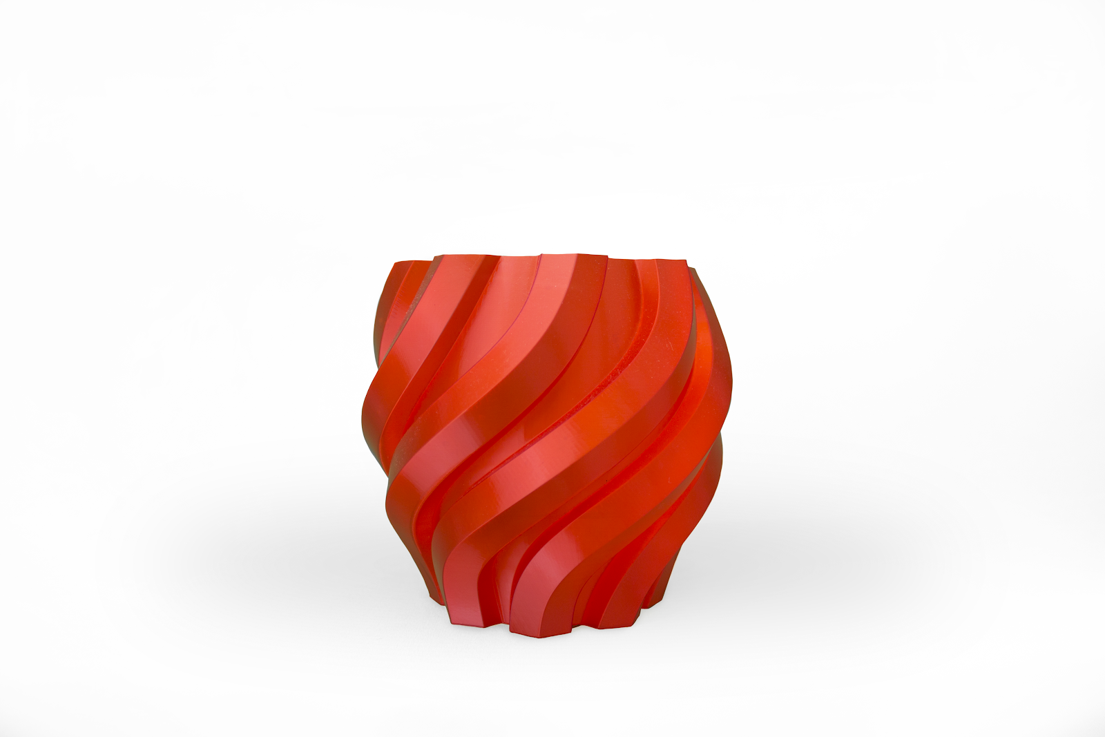 The 3D printed twisted vase.