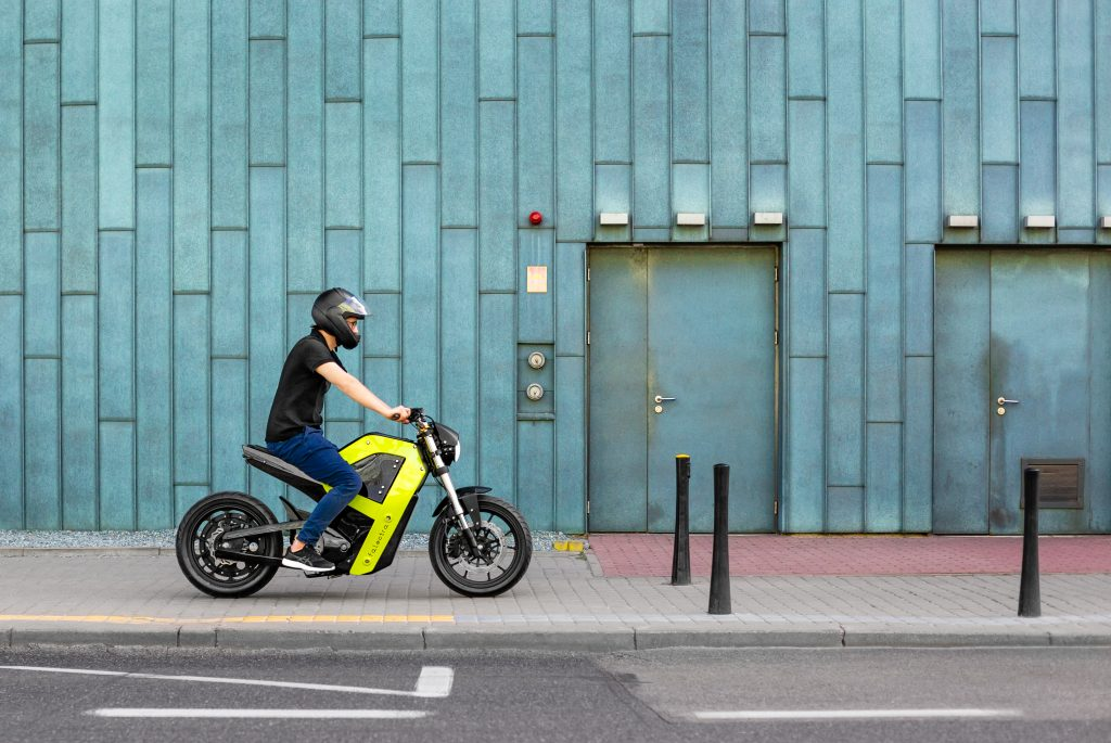 Falectra's prototype electric motorbike. Image via Zortrax.