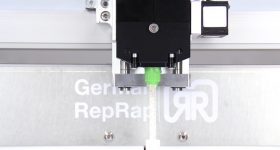 Printhead on the L320 system. Photo via German RepRap