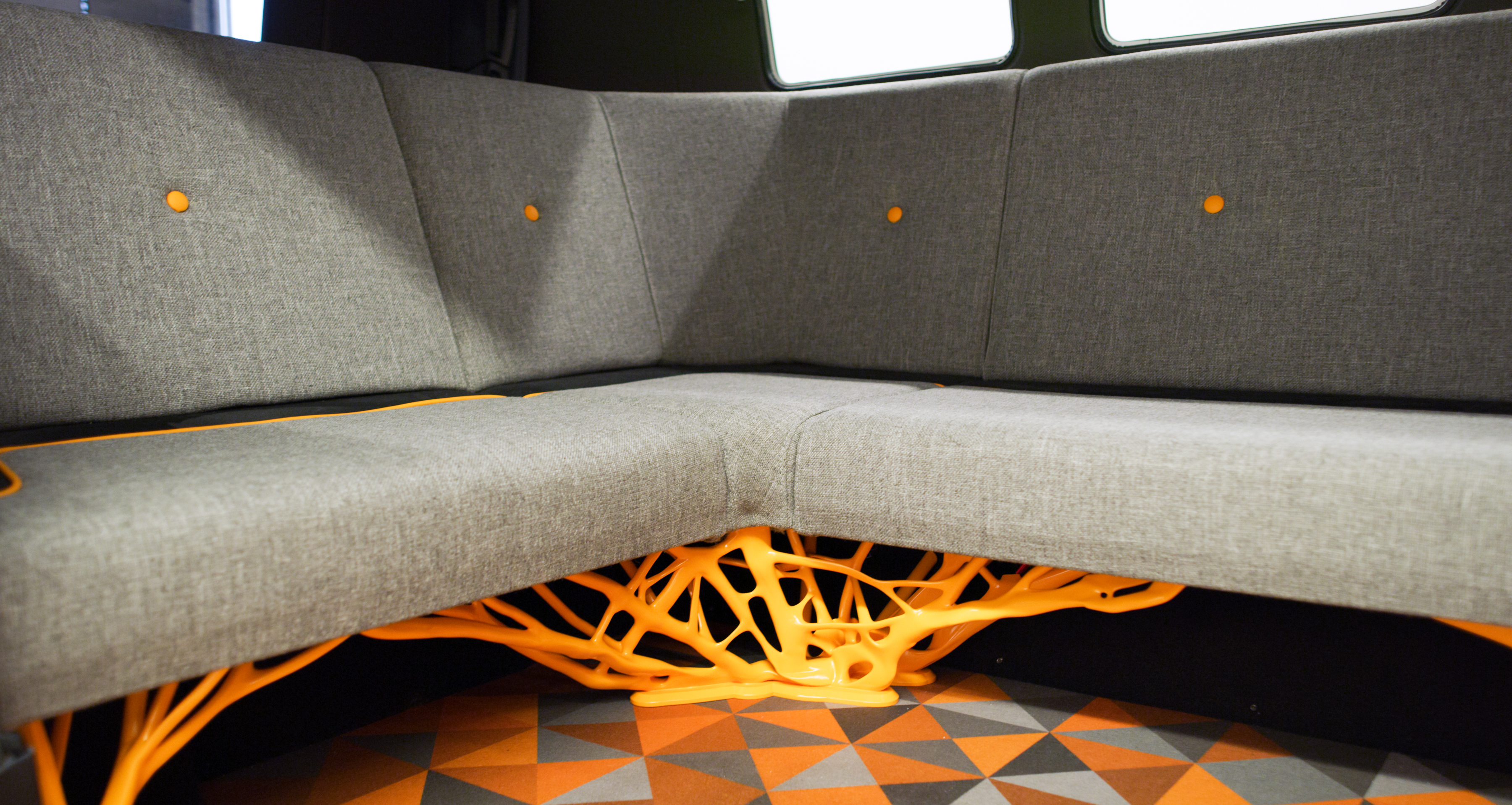 The 3D printed seating base of the Type 20 concept car. Photo via Volkswagen.