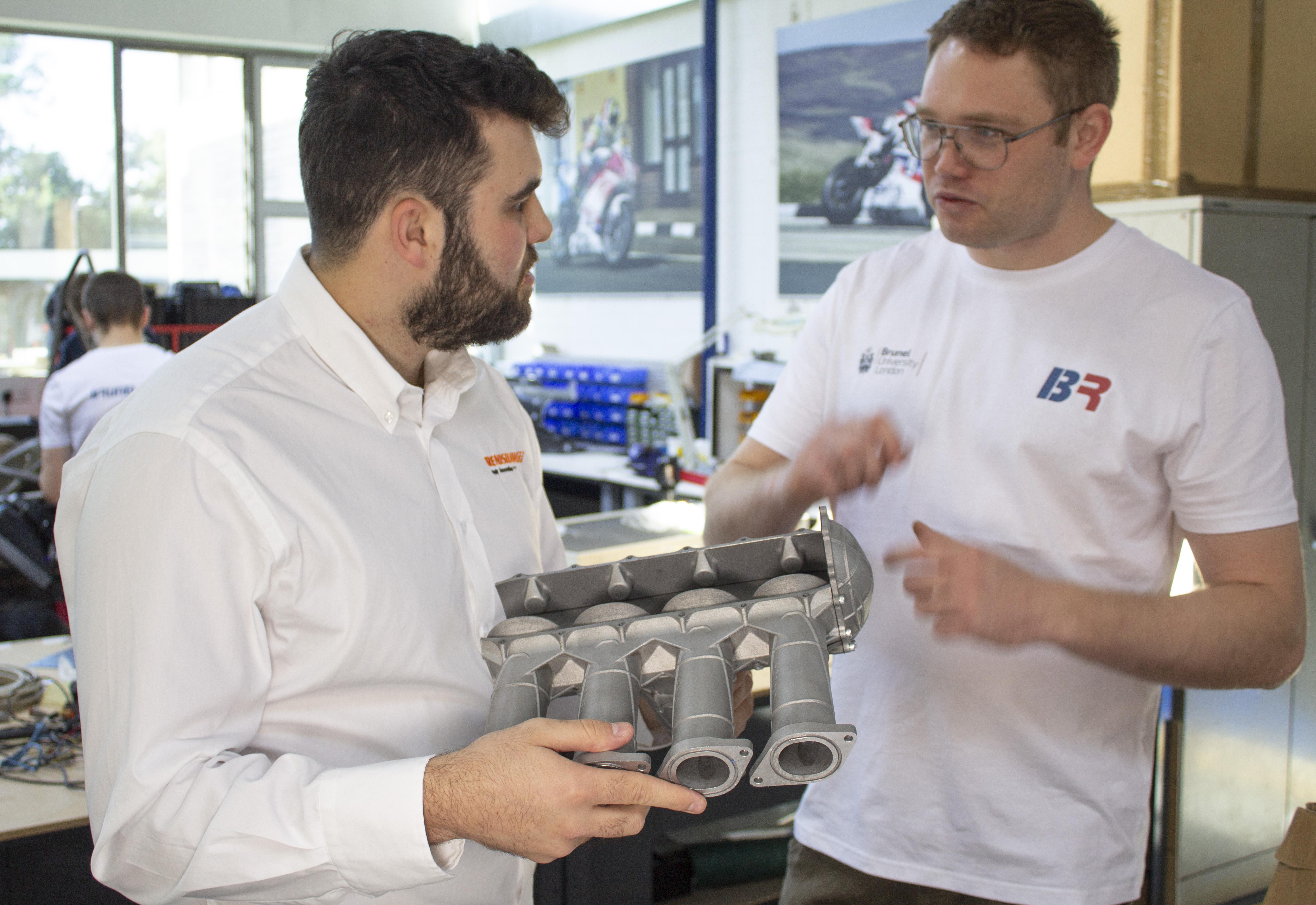 Renishaw supports Brunel Racing in Formula Student competition. Photo via Renishaw.