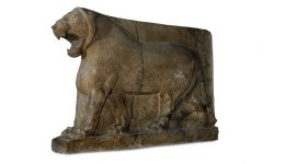 The original Lion of Mosul statue which measured at 2.59m (height) and 3.96m (length). Image via Google Arts & Culture/British Museum.