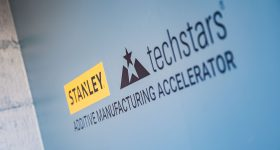 The STANLEY+Techstars Accelerator logo. Photo via Stanley Black & Decker.