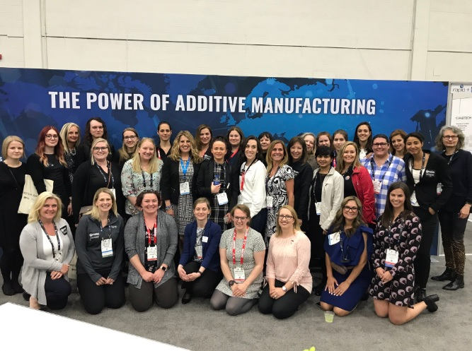 The Women in 3DPrinting gathering during RAPID + TCT in Detroit. Photo via Women in 3D Printing.