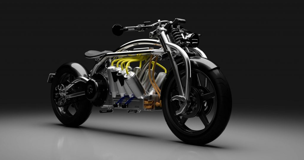 Curtiss Motorcycle Company's Zeus 8 motorbike design. Image via Curtiss Motorcycle Company