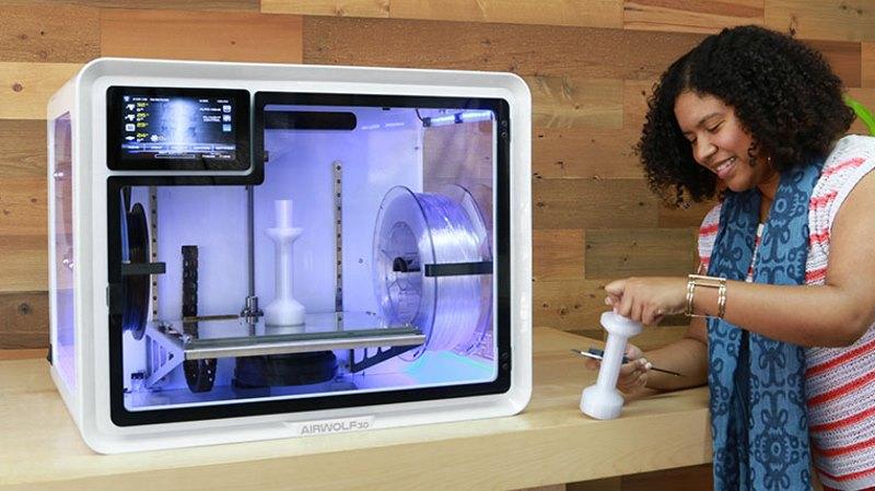 The EVO R 3D printer in use. Photo via Airwolf 3D.