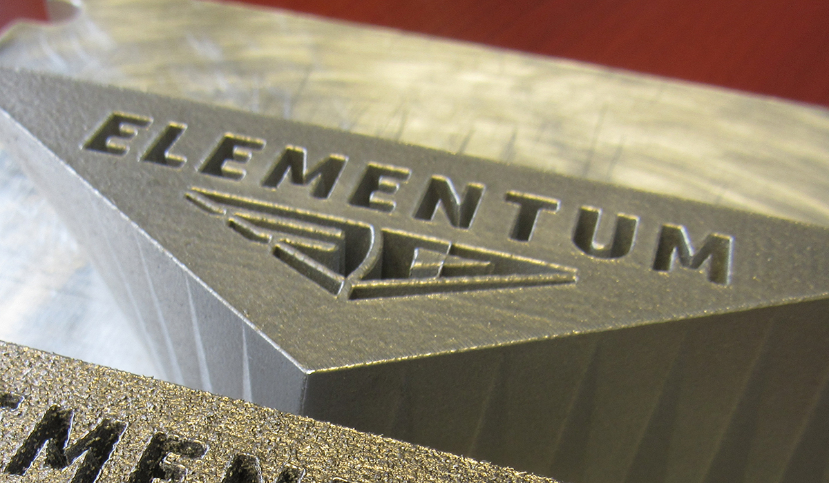 Elementum 3D logo. Photo via Keselowski Advanced Manufacturing.