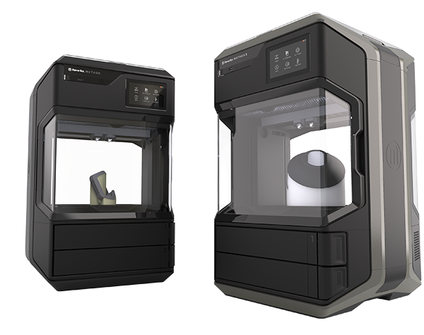 The METHOD (left) and METHOD X (right) 3D printers. Photo via MakerBot