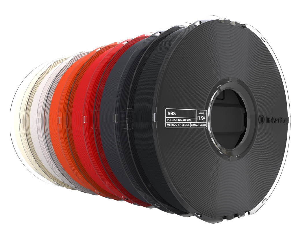 MakerBot METHOD X ABS filament is available in a range of colors. Photo via MakerBot