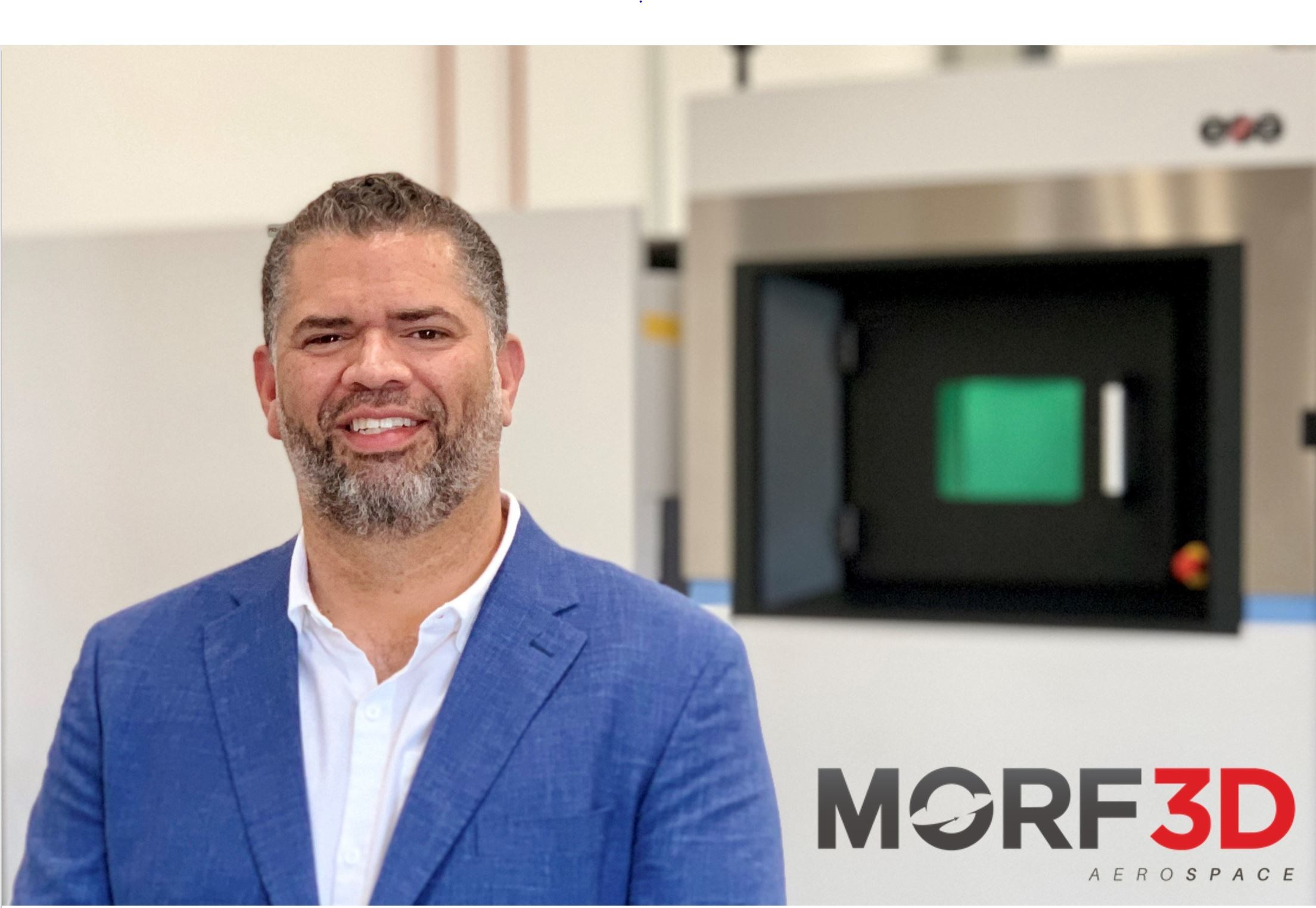 Ivan Madera, founder and CEO of Morf3D. Photo via Morf3D