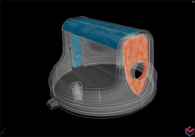 Manufacturing Geometry Correction module within Volume Graphics software corrects mold design for 3D printing. Image via Volume Graphics.