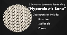 The 3D printed Hyperelastic Bone scaffold. Image via UIC/Northwestern University.