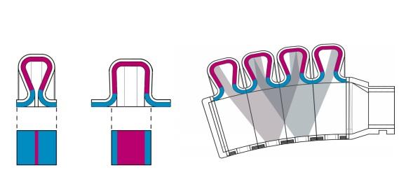 An illustration of the actuactor and color sensor. Image via TU Delft.