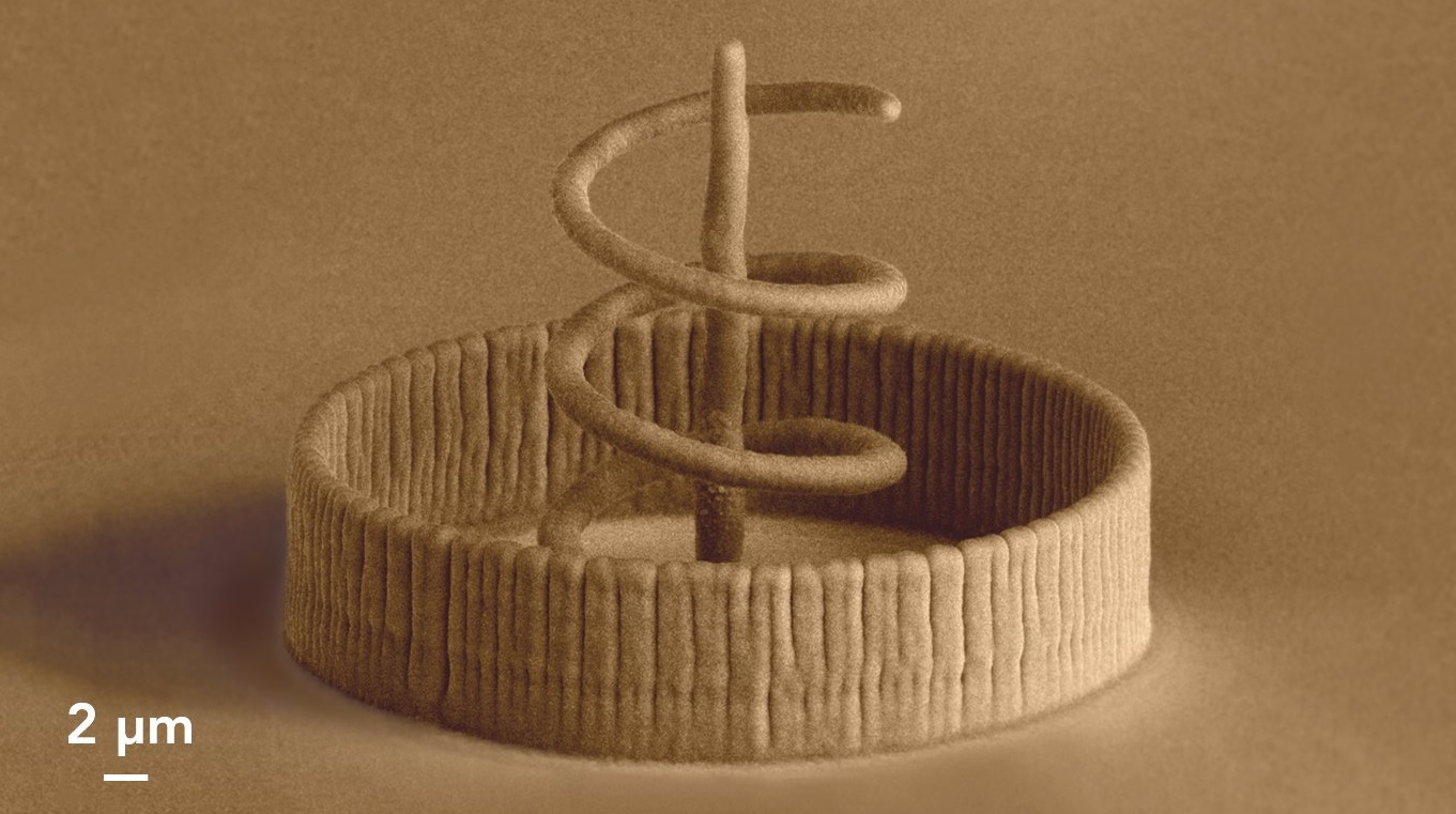 Nanoscale 3D printed object. Image via Cytosurge.