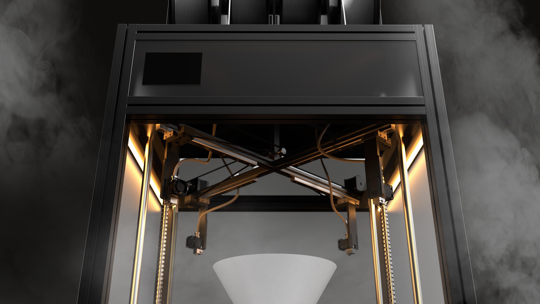 Multi-gantry system on the Gantri Dancer 3D printer. Photo via Gantri.