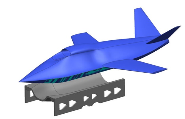 The concept for AFRL's aircraft fuselage skin and tooling. Image via Thermwood.