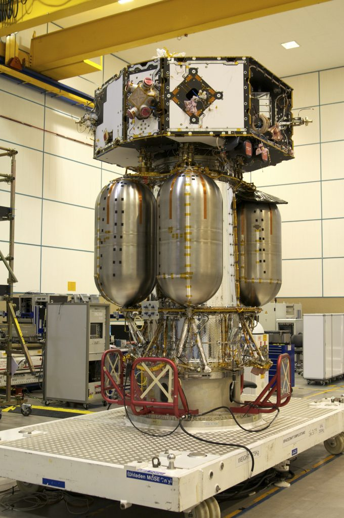 Example space propellant tanks on the exterior of ESA's LISA Pathfinder. Photo via ESA