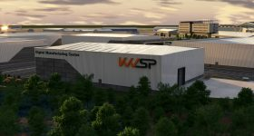 Digital rendering of the forthcoming KWSP Digitial Manufacturing Center. Image via SEMLEP