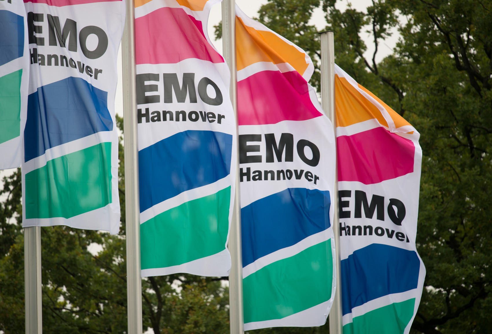 EMO Hannover flags. Photo via EMO.