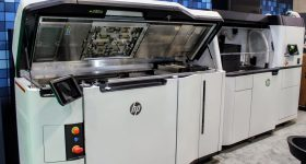 HP Jet Fusion 5200 Series 3D printer. Photo by Michael Petch.