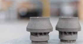 Metal 3D printed components. Photo via Material Solutions.