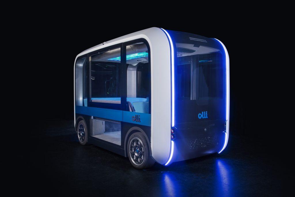 Olli 2.0, a 3D printed connected electric autonomous shuttle. Photo via Local Motors.