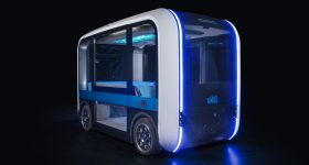 Olli 2.0, a 3D printed connected electric autonomous shuttle. Photo via Local Motors.