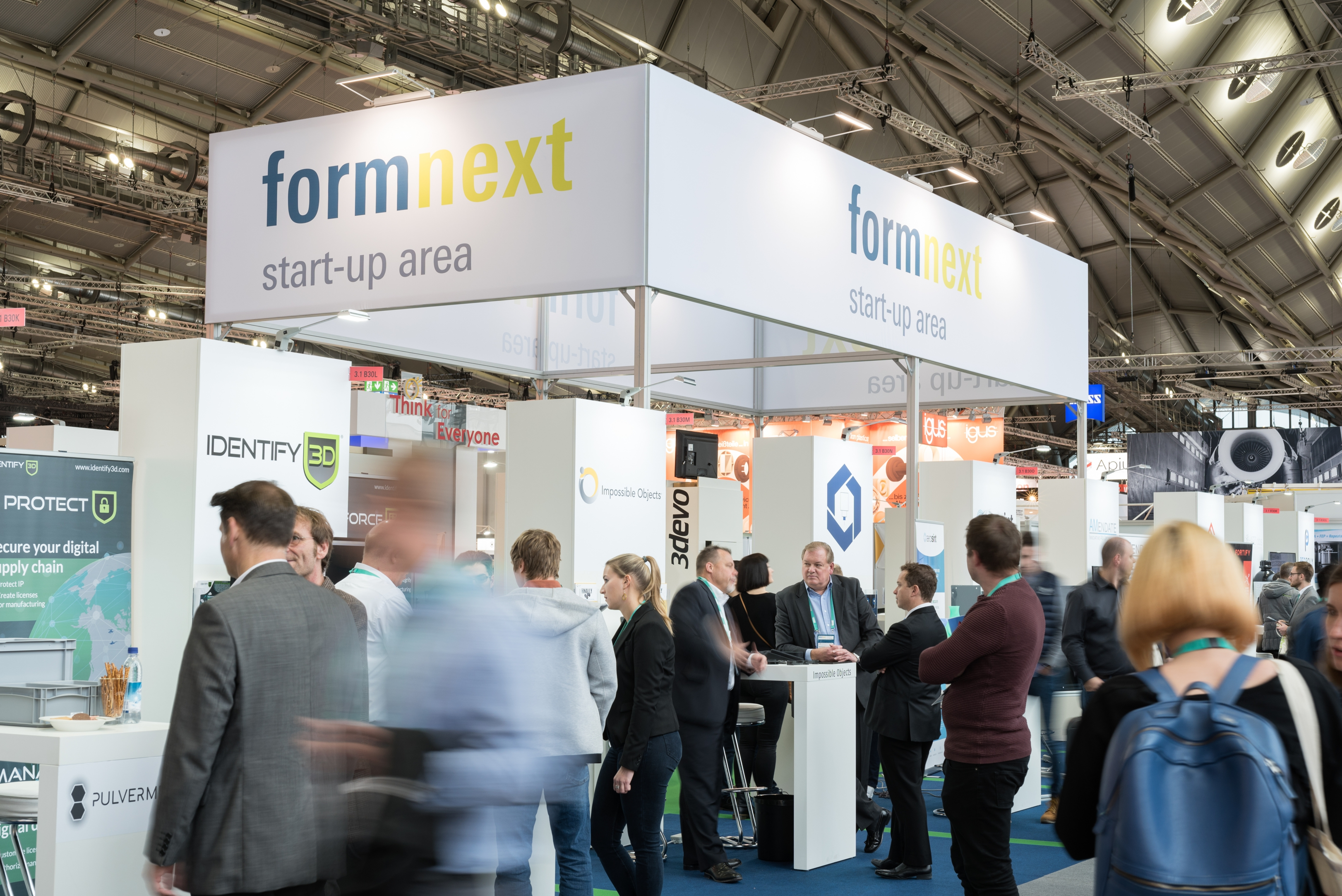 The Formnext additive manufacturing trade fair. Photo via Formnext.