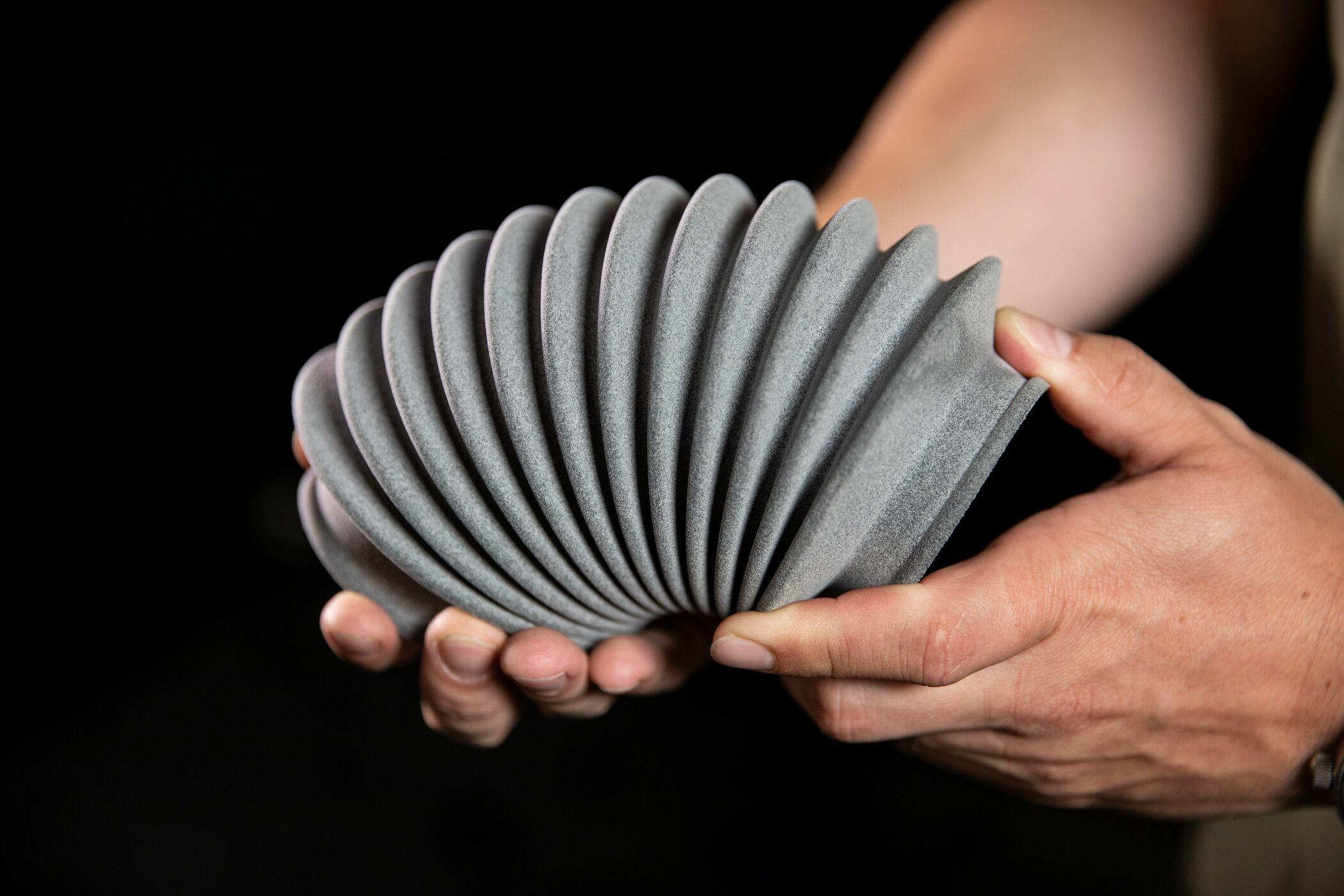 Product manufactured using BASF TPU. Photo via Materialise.
