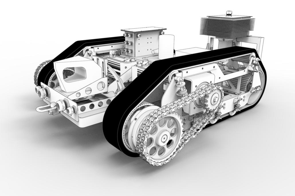 The 4DHybrid Autonomous Robot. Image via 4DHybrid.
