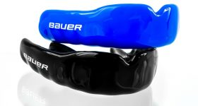 The new Bauer APEX and APEX Lite Mouthguards. Photo via GuardLabs.