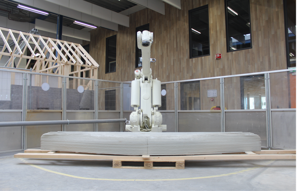 Vertico's large scale robotic 3D printer. Photo via Vertico.