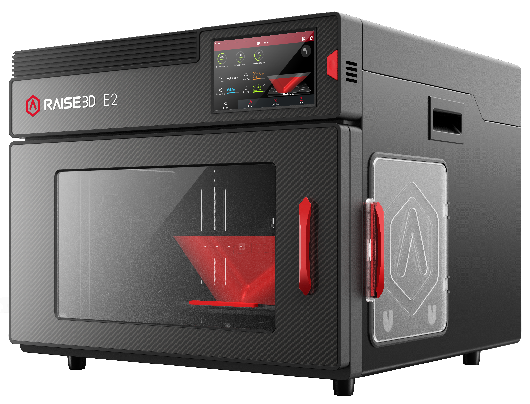 The E2 3D printer. Photo via Raise3D.