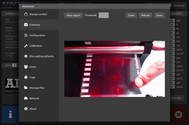 Screenshot of the process monitoring system. Image via Admatec.