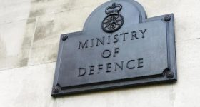 UK Ministry of Defence sign. Photo via Ministry of Defence.
