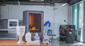 The Phenom 3D printer and models. Photo via Peopoly.