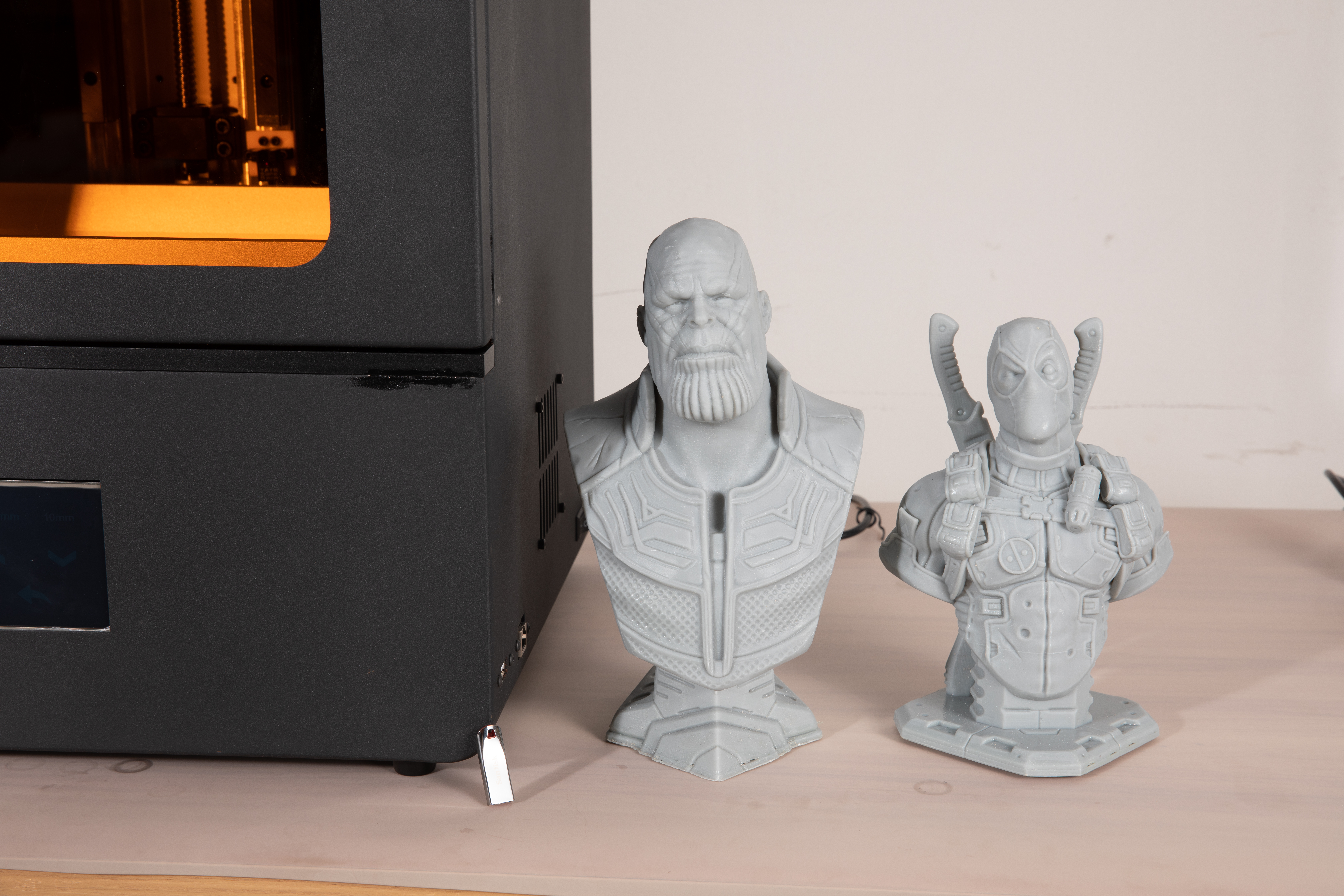 3D printed models created on the Phenom. Photo via Peopoly.