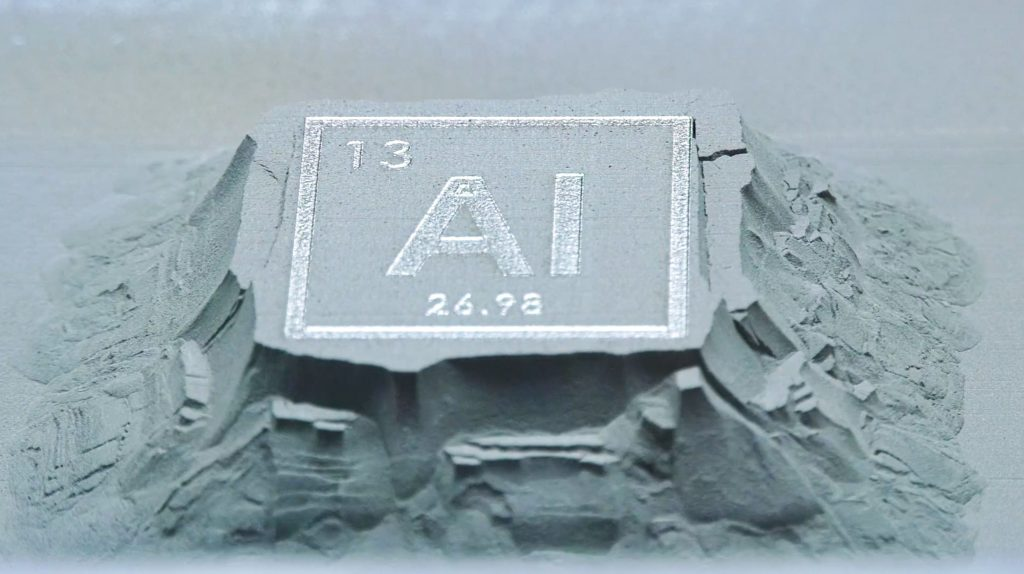 Aluminum 7A77.60L powder from HRL. Photo via HRL Laboratories
