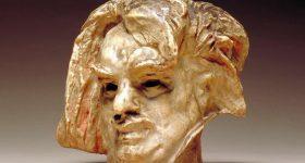 Auguste Rodin's Head of Balzac sculpture. Photo via Nasher Sculpture Center.