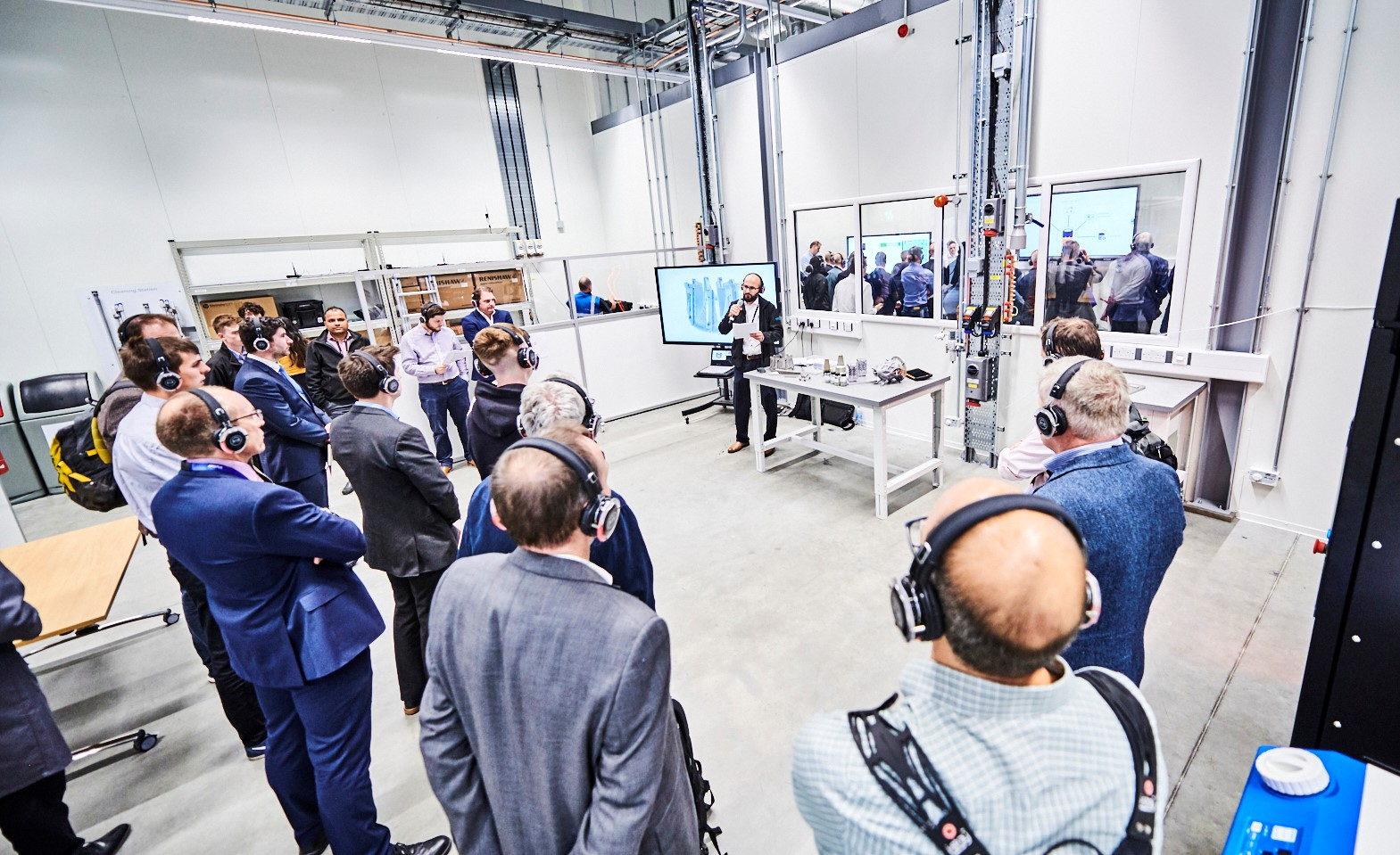 Inside the metal additive manufacturing certification innovation hub of the MTC. Photo via The MTC