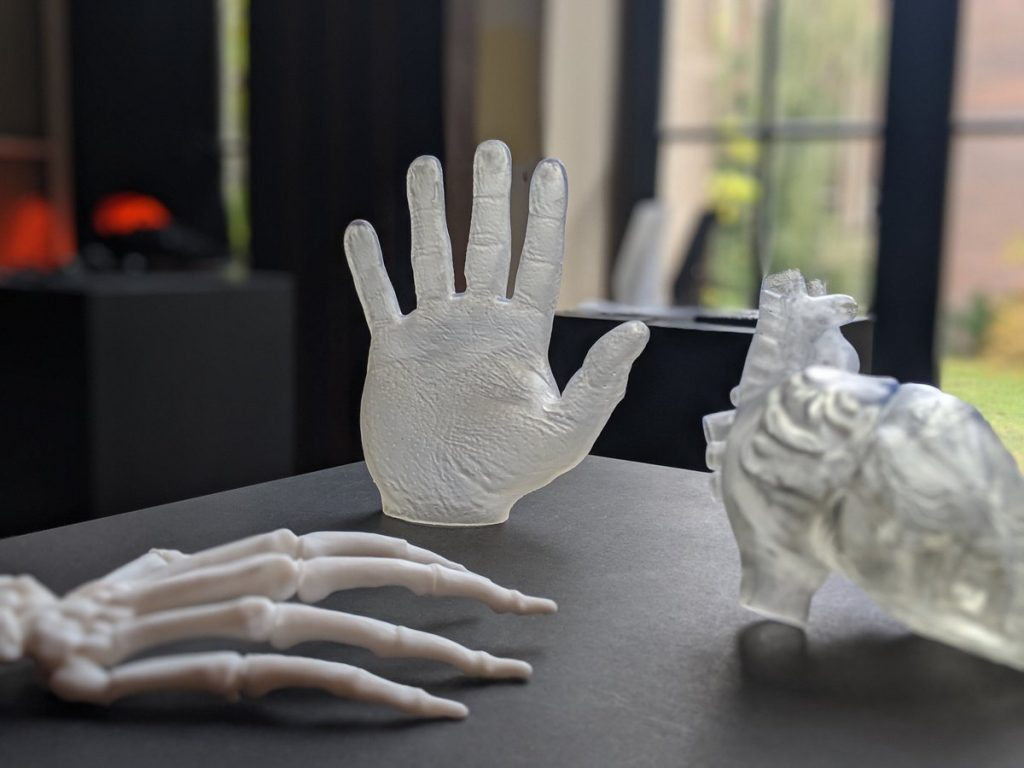 Medical 3D printed models at Formlabs User Summit Europe 2019. Photo via Formlabs