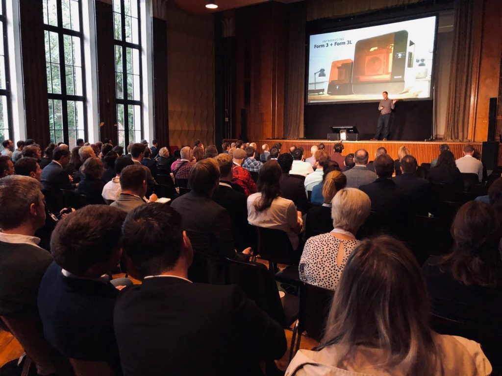 Formlabs User Summit Europe 2019 opening keynote. Photo via Formlabs