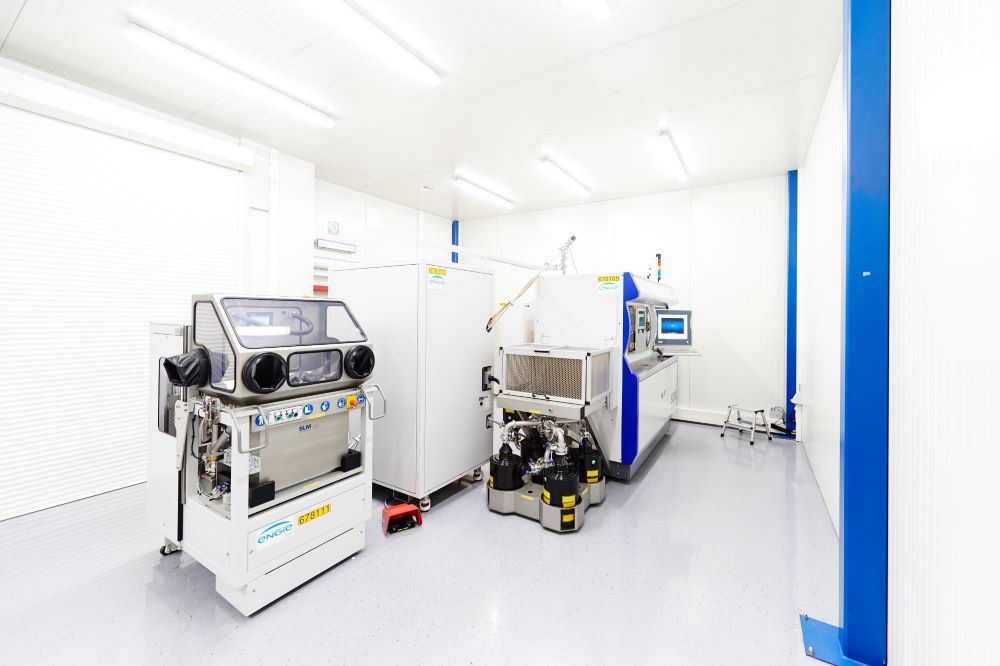 Additive manufacturing equipment at ENGIE Lab-Laborelec. Photo via Lloyd's Register