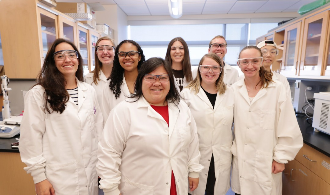 The Chow Lab team, led by Lesley Chow. Photo via Lehigh University.