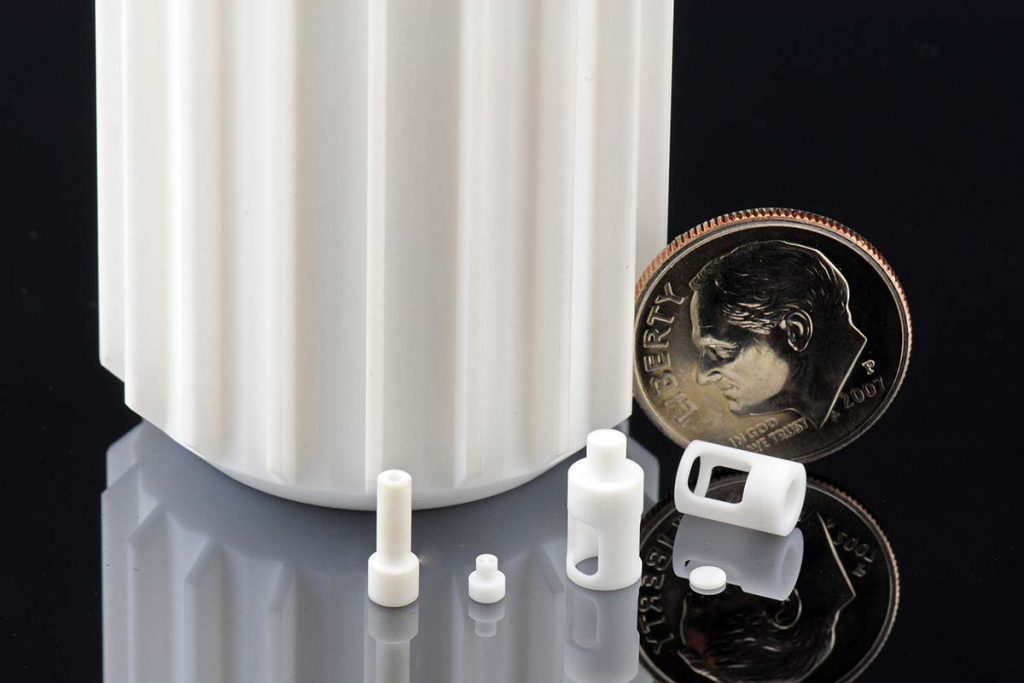 Machinable MACOR®glass ceramic from Corning. Photo via Corning