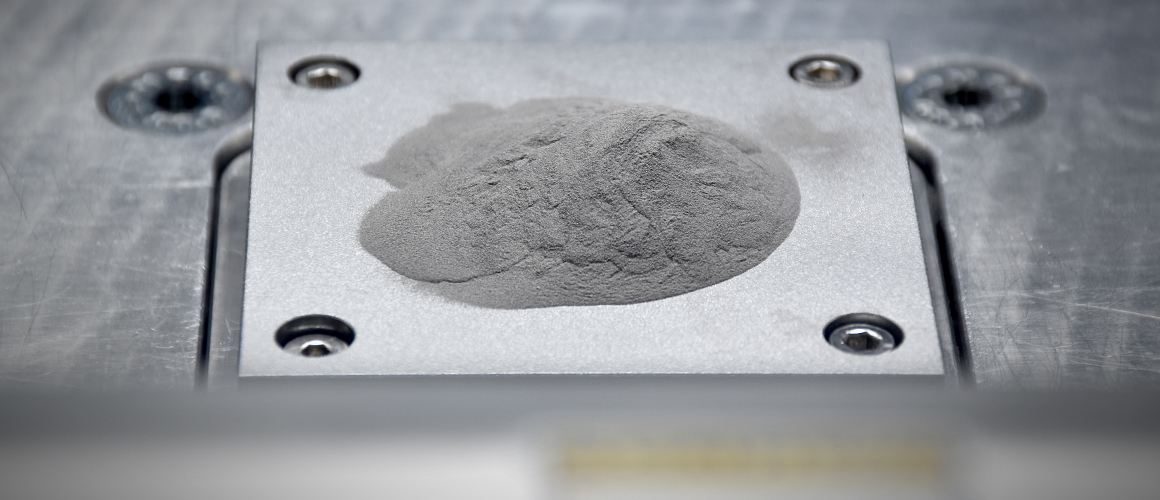 HRL Laboratories 7A77 powder for 3D printing high-strength aluminum. Photo via HRL Laboratories.