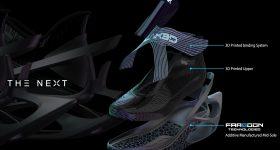 Composition of PEAK Sports' 'The Next' Shoe. Image via Farsoon.