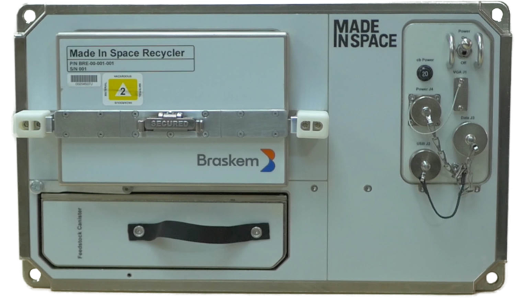 The Braskem Recycler. Photo via Made In Space.
