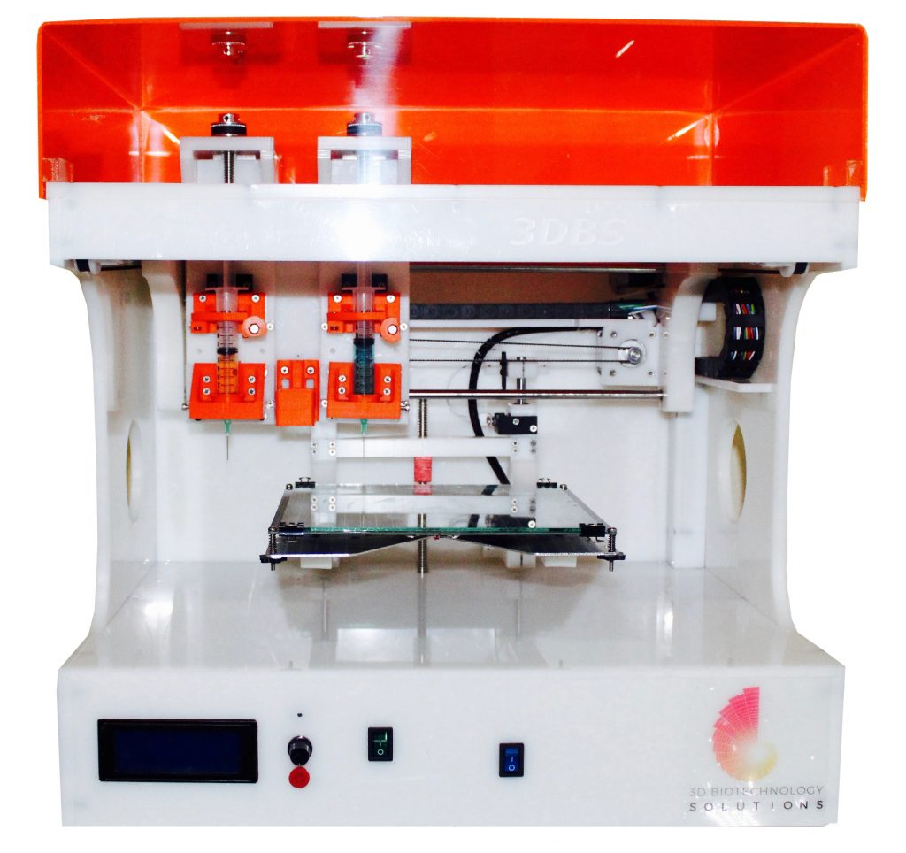 The Genesis I 3D bioprinter from 3D Biotechnology Solutions. Photo via 3D Biotechnology Solutions