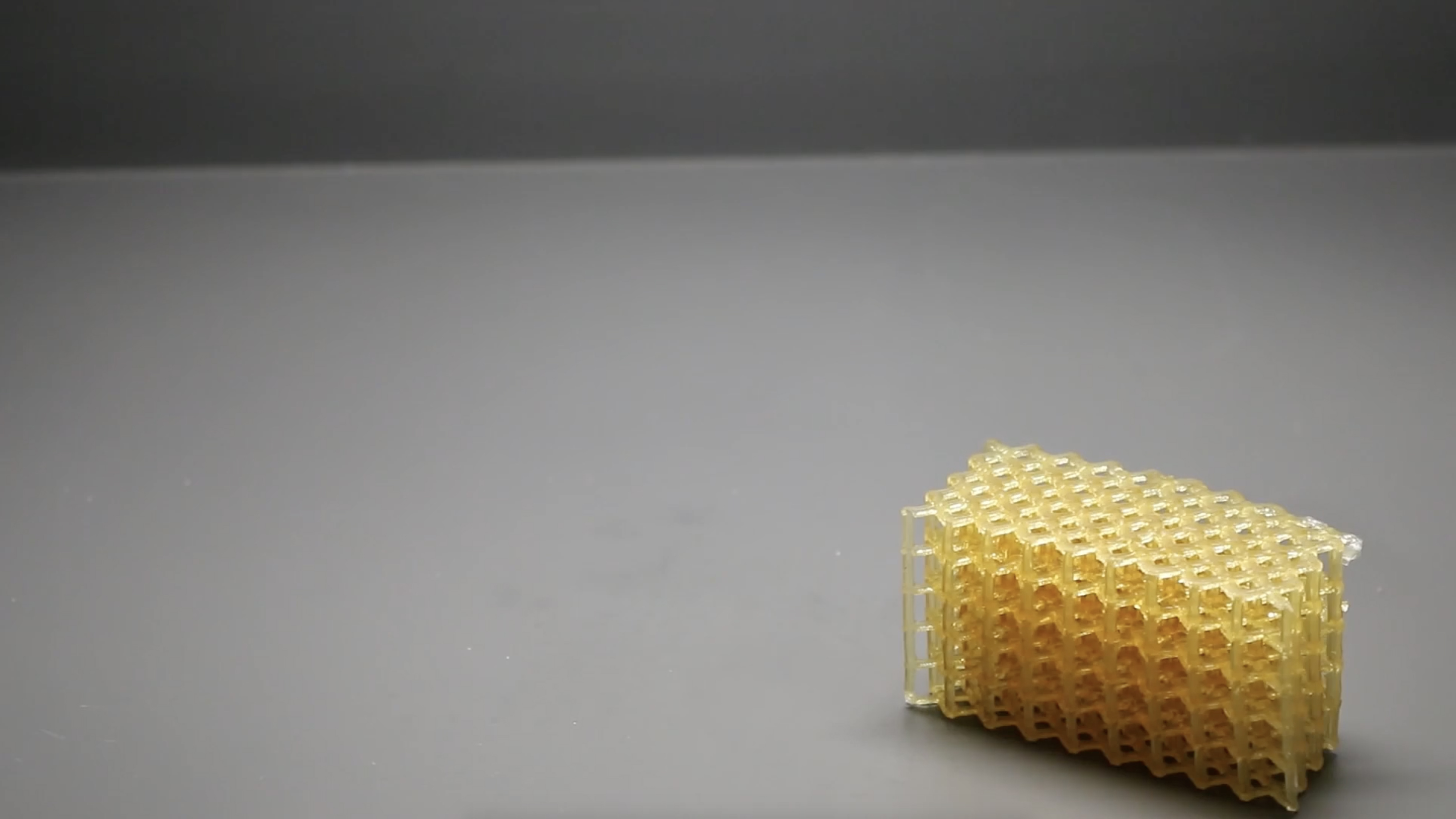 HARP can print soft, flexible parts, in addition to hard, durable objects. Photo via Northwerstern University.